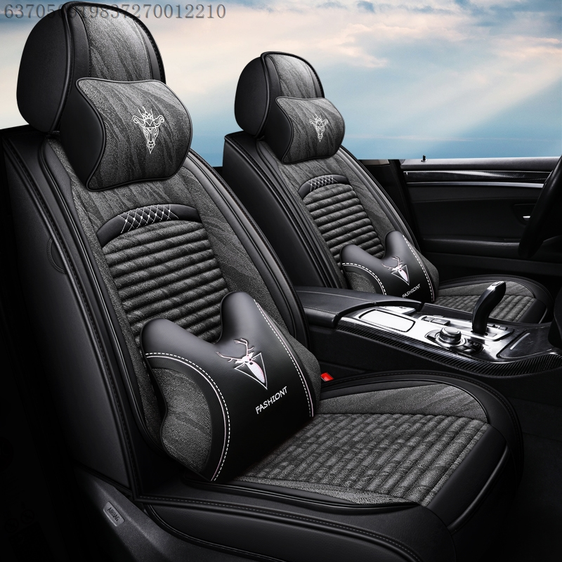 19 new spring car seat Volkswagen Santana Jetta Lang easy-going linen all-inclusive four-season universal seat cover