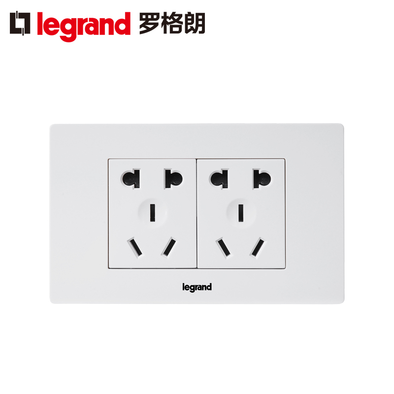 Legrand 118 type 10 hole socket panel is still super wind original 6 hole six hole multi-function two five-hole wall power supply