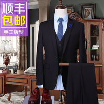 Summer slim mens suit