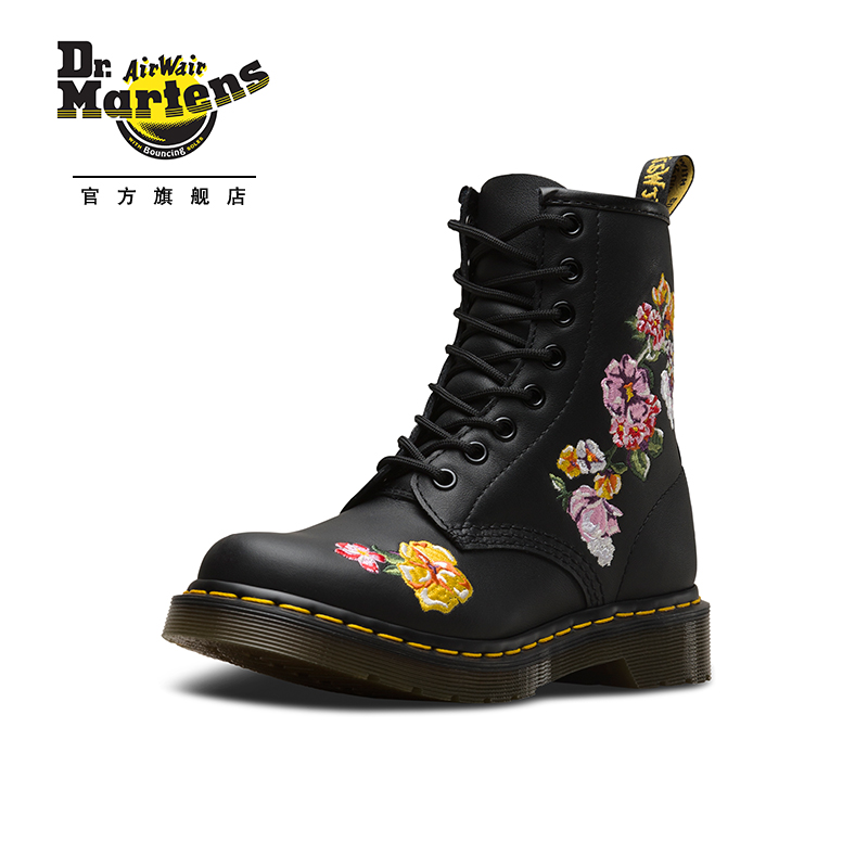 Dr.Martens Dr. Martin 1460 Classic 8 Hole Martin Boots Rock Fashion Embroidered New Women's Shoes