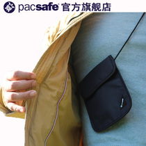 Pacsafe x75 Travel abroad RFID oblique carry stealth personal bank card anti-theft bag passport Document pack