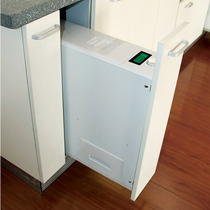 Hua bai le kitchen cabinets embedded drawer type rice box rice cabinet household pull-down resistance nilla basket