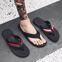 Flip flops men tide summer non-slip mens sandals cold Korean version of the trend of personality wear beach sandals fashion slippers