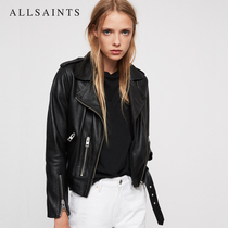AllSaints ladies BALFERN Leather Jacket winter motorcycle sheepskin jacket WL115E