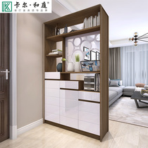 Nordic solid wood Xuan Guan Cabinet door Foyer screen cabinet double-sided partition cabinet modern simple multi-function room shoe cabinet