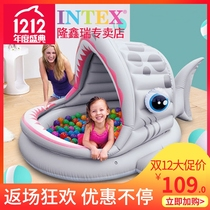 Intex Childrens ocean ball pool indoor fence one year old baby Ocean ball toy bobo pool 1-2 years old