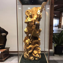 Wood carving root carving decoration factory Guanyin Maitreya statue carving Guan Gong Longfeng Taihang Cliff Cypress character Living room Handicraft landscape