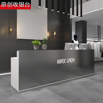 Commercial stainless steel cashier Clothing store Simple counter Restaurant Beauty salon Bar table Company front desk