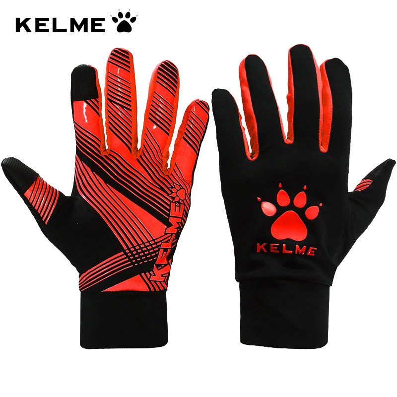 Kelme Outdoor Sports Full-finger gloves Slip Training Football Running Winter Warm Fitness Touch screen Gloves