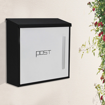 Mailbox mailbox European-style villa outdoor hanging wall with lock Rainproof 304 stainless Steel large opinion box letter newspaper