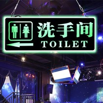 Creative Duplex LED lamp toilet signage hanging Toilet Guide toilet luminescent prompt brand customization