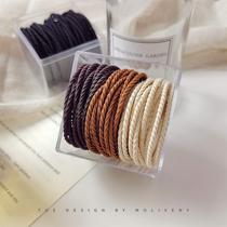 Korean version 2021 new high elastic rubber band female tie hair rope headdress durable does not hurt hair simple hair ring