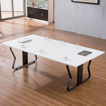 Lolai Modern simple staff table training Reading table conference table steel Frame desk Table staff table