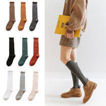 Autumn and winter black stockings children Japanese JK tube over the knee half high cylinder ins tide red Street tide calf socks