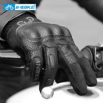 INBIKE мотоциклетные перчатки для мужчин езда на мотоцикле всадник всесезонный велоспорт лето сенсорный экран анти-падение дышащий всадник оборудование