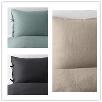 宜家正品 IKEA 普德维瓦 被套和枕套 100%亚麻  无床单 国内代购