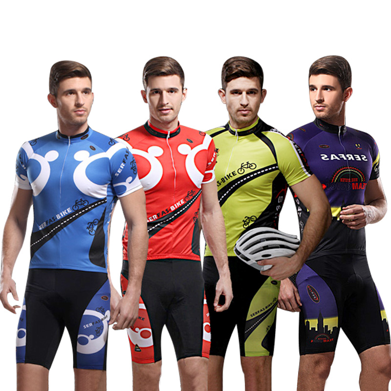 Mountain bike cycling suit men's summer short sleeve half sleeve Suit Shorts summer cycling suit bicycle cycling clothing equipment