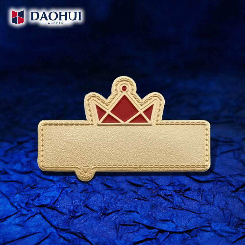Enterprise Service Star badge can be customized to be urgent without mold laser engraving special-shaped pin a starting order