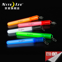 US niteize Nai Outdoor life saving fluorescent rod signal with 8-word buckle fluorescent strip flash outdoor supplies