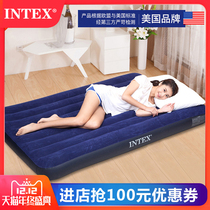 ✅intex Inflatable Mattress Home Double thickened single outdoor portable lunch break bed folding air hoverboard bed