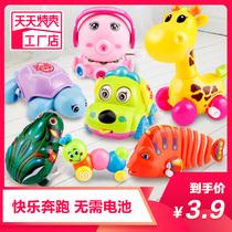 Заводная игрушка Железная лягушка мультфильм животных дети головоломки младенцев и детей раннего возраста чтобы научить ребенка ползать