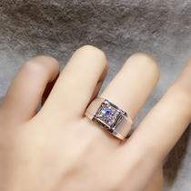 Chow Tai Fook pt950 platinum mens diamond ring Simple domineering mens wedding ring 18k white gold wedding ring