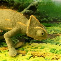 Chameleon Toys European and American genuine Safari Gaoguan Cub animal model holiday Gift Special Offer