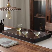 Small bridge flow water ebony solid wood tea plate whole piece of wood small tea table home simple kung fu tea set crescent