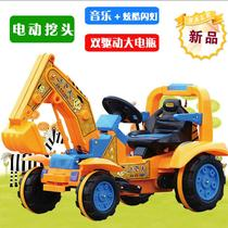 Electric excavators of the child can be charged to ride the digging machine child hook toy car electric vehicles