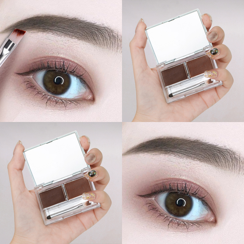 Kazilan eyebrow powder female waterproof natural brand counter waterproof anti-sweat does not lose color long-lasting do not faint dyed eyebrow pen