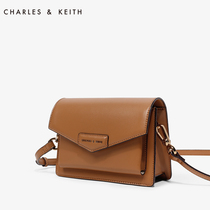 Charles&keith Autumn Small Square bag ck2-90680630 commuter clamshell single shoulder oblique cross postman girl bag