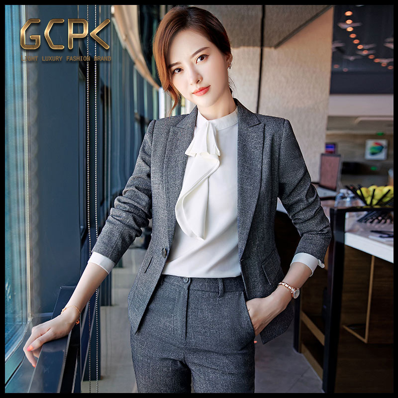 GCPK professional suit femininity fashion 2020 autumn winter famous business dress to work interview foreign style suit