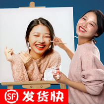 Custom DIY digital oil painting photo Fill 0 basic hand-painted simple good painting couple color painting