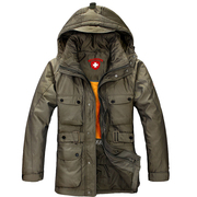 Military down jacket men in the outdoor section of the long thick wind down jacket removable removable interior live men