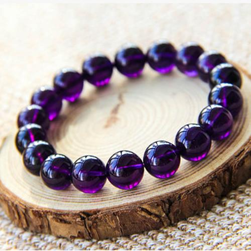 Collectible Uruguayan amethyst 錬 female natural crystal string purple custom 錬 jewelry