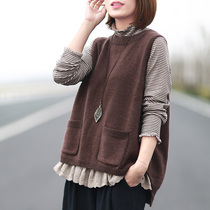 Literary leisure loose hair t hedge slimming vest