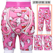The new thickening of children's cartoon ski protection hip roller skating hip guard hip protection children's pants