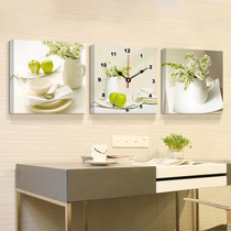 Modern minimalist living room dining room decoration painting bedroom triple hanging clocks and watchboxes to shield the dining room wall paintings hanging murals