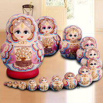 ★ Professional SET BABY Shop ★ No formaldehyde flavor dried lime wood hand-painted Russian baby set 15 floor 1502