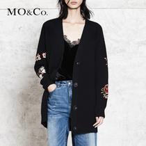 MOCO knitted cardigan women outside the ride cardigan sweater thin coat sweater MA173CAR307 motorcycle Safety ke
