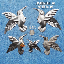 Espresso iron stamping accessories A063 animals large and medium-sized left and right woodpecker birds hummingbirds.