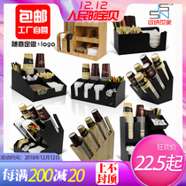 Acrylic Cafe Milk Tea Shop Bar Storage Disposable Paper cup rack straw shelf with a cup separator