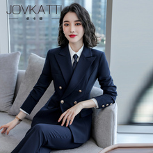High-end professional suit women's 2019 new Korean version business suit work suit fashion temperament and self-cultivation suit