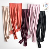 Effen thermal pants womens hair fiber lady unmarked velvet warm autumn pants wearing tight plus-down thin line pants