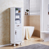 Bathroom cabinet side cabinet bathroom cabinet toilet cabinet side cabinet side Cabinet toilet side cabinet floor Oak locker