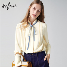 Evelyn chiffon blouse new autumn dress bottom fashion women's wear temperament semi-high Collar Chiffon shirt
