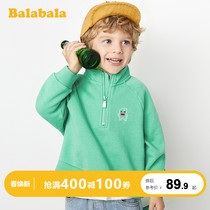 Balabala boys sweater childrens outerwear baby spring 2020 new childrens clothing fashion sweater cotton tide child