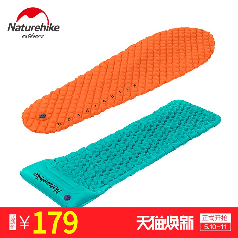 NH passenger inflatable mattress outdoor tent mattress single pillow/mummy floor mattress egg nest moistureproof mattress