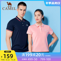 Camel sportswear lady slim summer POLO shirt short sleeves turn collar fashion T-shirt mens loose top new