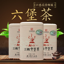 Black tea, tea factory, three crane, six Fort tea, first grade, Chen tea, six Fort tea, 150 grams of canned tea.
